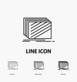 design layer layout texture textures icon in thin vector image vector image