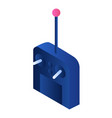 device remote joystick icon isometric style vector image vector image