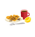 drawing breakfast vector image vector image