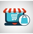 e-commerce concept bag gift cart vector image