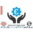 Euro Maintenance Hands Flat Icon With 2017 Bonus vector image vector image