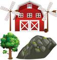 farm element set isolated on white background vector image