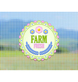Farm fresh badge vector image vector image