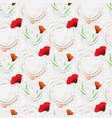 floral background wallpaper seamless pattern with vector image vector image