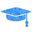 graduation cap grunge icon vector image vector image