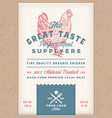 great taste perfect chicken abstract vector image