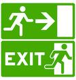 Green Exit Symbol vector image vector image