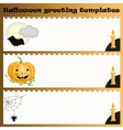 Halloween greeting templates vector image