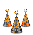 Halloween party hats isolated on white background vector image vector image