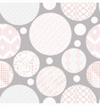 hand drawn circles seamless patterns vector image vector image