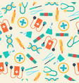 healthcare seamless pattern vector image