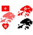 Hong Kong map vector image vector image