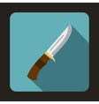 Hunting knife icon flat style vector image vector image