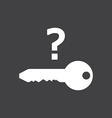 Key is not founded vector image vector image