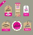 label paper brown and pink concept vector image