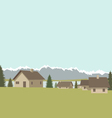 Mountain village spring vector image vector image
