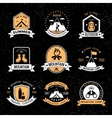 Mountaineering Vintage Emblems vector image vector image