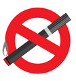 no smoking on white background vector image vector image