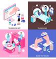 online medicine 2x2 concept vector image vector image