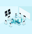 qualitative isometry medical characters surgeons vector image