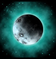 realistic 3d planet of the dark space background vector image