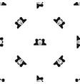 recruitment pattern seamless black vector image vector image