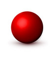 red matte sphere ball mock up clean round the vector image vector image
