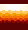 red orange waves background vector image