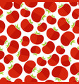 rose tomato decorative seamless vegetable pattern vector image vector image