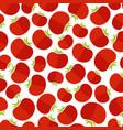 rose tomato decorative seamless vegetable pattern vector image