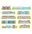 school education building isolated icons vector image vector image