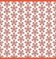 seamless floral pattern with red flowers on white vector image vector image