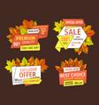 special offer sale banners with mega discounts vector image