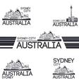 Sydney city set vector image vector image