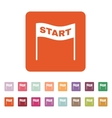 The start icon Start symbol Flat vector image vector image