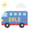touring bus icon summer sale related vector image vector image