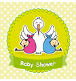 Twins baby shower vector image vector image
