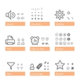 universal software icon set addition part vector image vector image