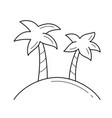 vacation line icon vector image