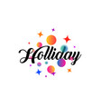 white holiday card or logo with lettering in a vector image vector image