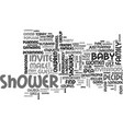 who should i invite to a baby shower text word vector image vector image