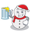 with juice snowman character cartoon style vector image