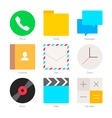Minimal Flat Icons for mobile phones Set 1 vector image