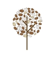 tree plant of coffee beans vector image
