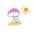 A child on the beach vector image