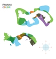 Abstract color map of Panama vector image vector image