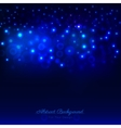 Abstract dark blue background with bokeh vector image vector image