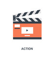 action icon concept vector image vector image