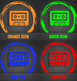 audiocassette icon Fashionable modern style In the vector image