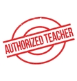 Authorized Teacher rubber stamp vector image